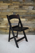 Rental store for CHAIR, BLACK WITH PADDED SEAT in Raleigh NC