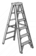 Rental store for LADDER, 6  STEP, ALUMINUM in Raleigh NC