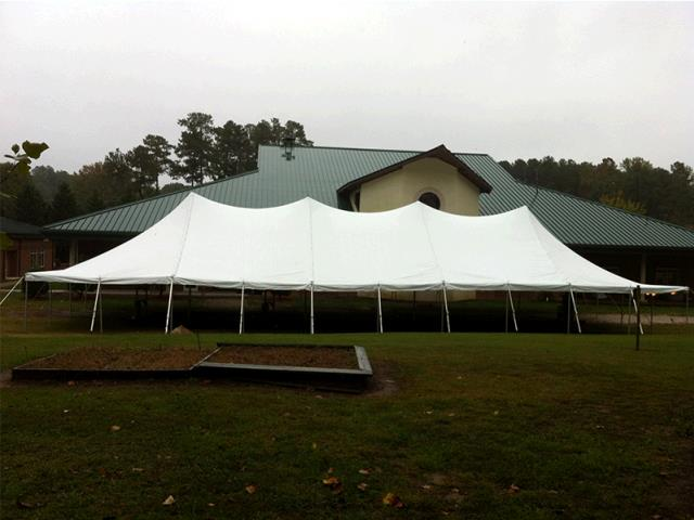 Where to rent 40 X 100 POLE TENT, WHITE-TT in Raleigh North Carolina, Cary NC, Fuquay-Varina, Hillsborough, Pittsboro NC, Chapel Hill, Wendell NC, and the Raleigh/Durham Metro area in North Carolina